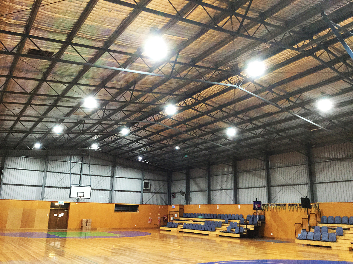 Upgraded lighting at the Victor Harbor Recreation Centre.