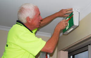 As John shows, we can also help with installation and maintenance of emergency lighting.
