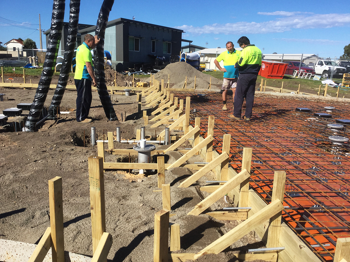 Underground electricals and lighting for the Victor Harbor Beachfront Caravan Park water park.