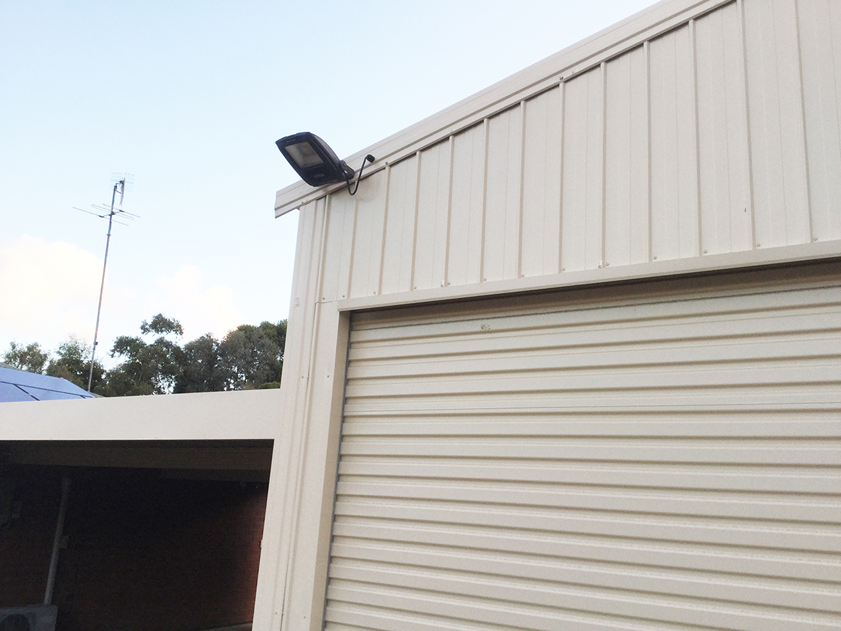 Motion activated security lighting for your shed